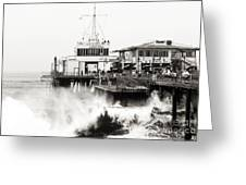 Hitting The Santa Monica Pier Greeting Card by John Rizzuto