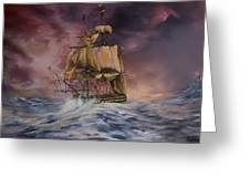 H.M.S Victory Greeting Card by Jean Walker