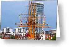 HMS Warrior Portsmouth Greeting Card by Terri  Waters