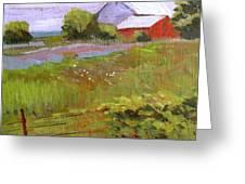 Hobbs Farm Greeting Card by Charlie Spear