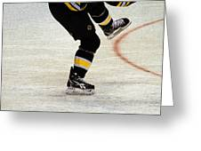 Hockey Dance Greeting Card by Karol Livote