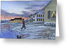 Hockey Girl Greeting Card by Richard De Wolfe