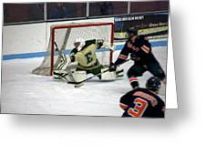 Hockey Off The Handle Greeting Card by Thomas Woolworth