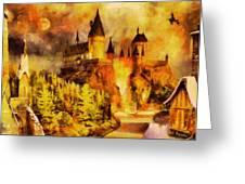 Hogwarts College Greeting Card by George Rossidis