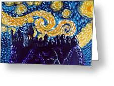 Hogwarts Starry Night Greeting Card by Jera Sky