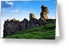 Hoher Stein Kraslice Czech Republic Greeting Card by Aged Pixel