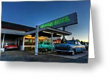 Holbrook Az - Wigwam Motel 010 Greeting Card by Lance Vaughn