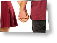 Holding Hands Greeting Card by Carlos Caetano