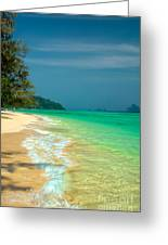 Holiday Destination Greeting Card by Adrian Evans