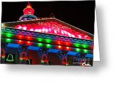 Holiday Lights 2012 Denver City And County Building L1 Greeting Card by Feile Case