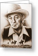 Hollywood Greats Mitchum Greeting Card by Andrew Read