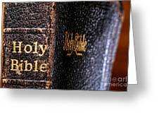 Holy Bible Greeting Card by Olivier Le Queinec