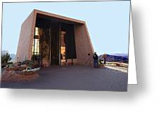 Holy Cross Or Red Rock Chapel Rear View Greeting Card by Bob and Nadine Johnston