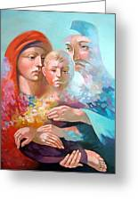 Holy Family Greeting Card by Filip Mihail