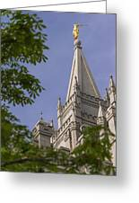 Holy Temple Greeting Card by Chad Dutson