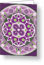 Holy Week Mandala Greeting Card by Linda Pope