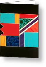 Homage To Inlay #1 Greeting Card by Karyn Robinson
