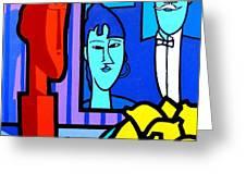 Homage To Modigliani Greeting Card by John  Nolan