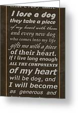 Homage To The Dogs In Our Lives Greeting Card by Movie Poster Prints
