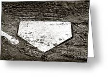 Home Plate Greeting Card by John Rizzuto
