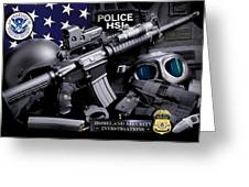 Homeland Security 1 Greeting Card by Gary Yost
