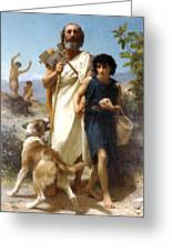 Homer And His Guide Greeting Card by William Bouguereau