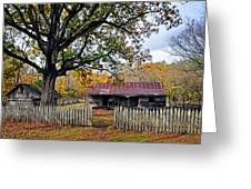 Homestead On The Buffalo Greeting Card by Marty Koch