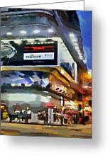 Hong Kong Night Lights 1 Greeting Card by Yury Malkov