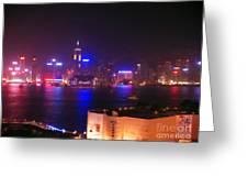 Hong Kong Skyline Greeting Card by Pixel  Chimp