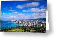 Honolulu Hawaii Greeting Card by Richard Brown