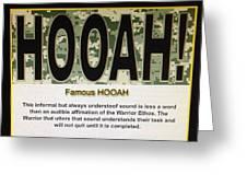 Hooah! Greeting Card by Marian  Alleva