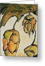 Hop Harvest Greeting Card by Alexandra Ortiz de Fargher