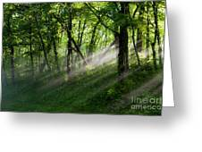 Hope Lights Eternal - Blue Ridge Parkway I Greeting Card by Dan Carmichael