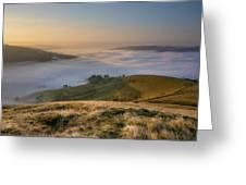 Hope Valley Autumn Mist Greeting Card by Steve Tucker