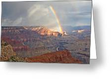 Hopi Point Rainbow Greeting Card by Mike Buchheit