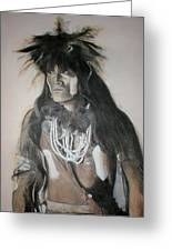 Hopi Snake Priest Greeting Card by Terri Ana Stokes