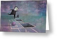 Hopscotch2 Greeting Card by Dennis Wunsch