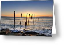 Horizon Sunburst Greeting Card by Michael Ver Sprill