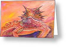 Horny Toad Greeting Card by Summer Celeste