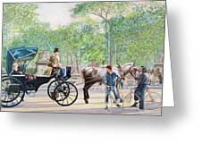 Horse And Carriage Greeting Card by Anthony Butera