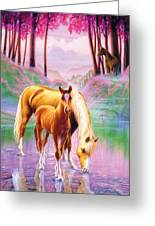 Horse And Foal Greeting Card by Andrew Farley