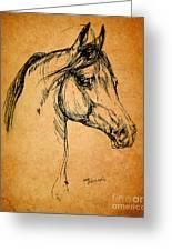 Horse Drawing Greeting Card by Angel  Tarantella