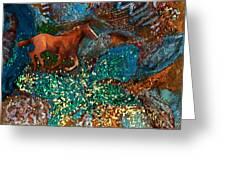 Horse In Fantasy Land Greeting Card by Anne-Elizabeth Whiteway