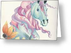 Horse Of A Different Colour Greeting Card by Kirsten Slaney