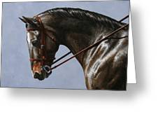 Horse Painting - Discipline Greeting Card by Crista Forest