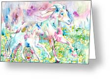 Horse Painting.17 Greeting Card by Fabrizio Cassetta