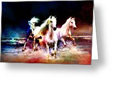 Horse paintings 002 Greeting Card by Catf