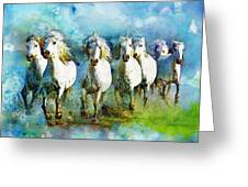 Horse Paintings 005 Greeting Card by Catf
