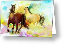 Horse Paintings 009 Greeting Card by Catf