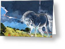 Horse Paintings 012 Greeting Card by Catf
